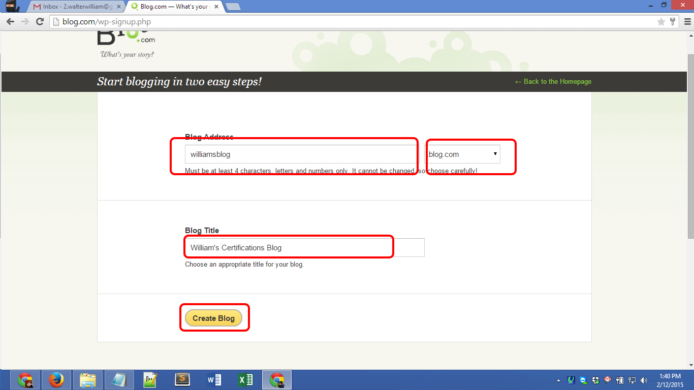 Blog.com account registration Screenshot 03