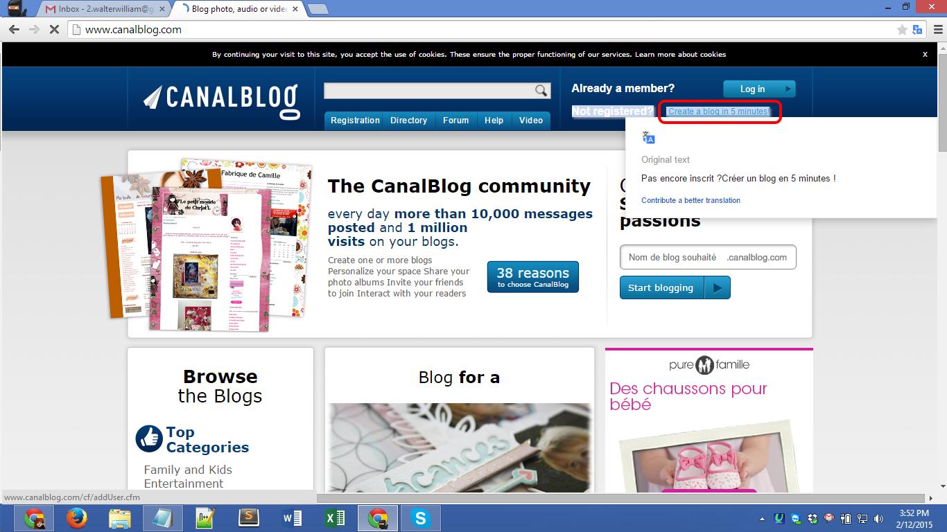 Canalblog.com Registration Screen 01