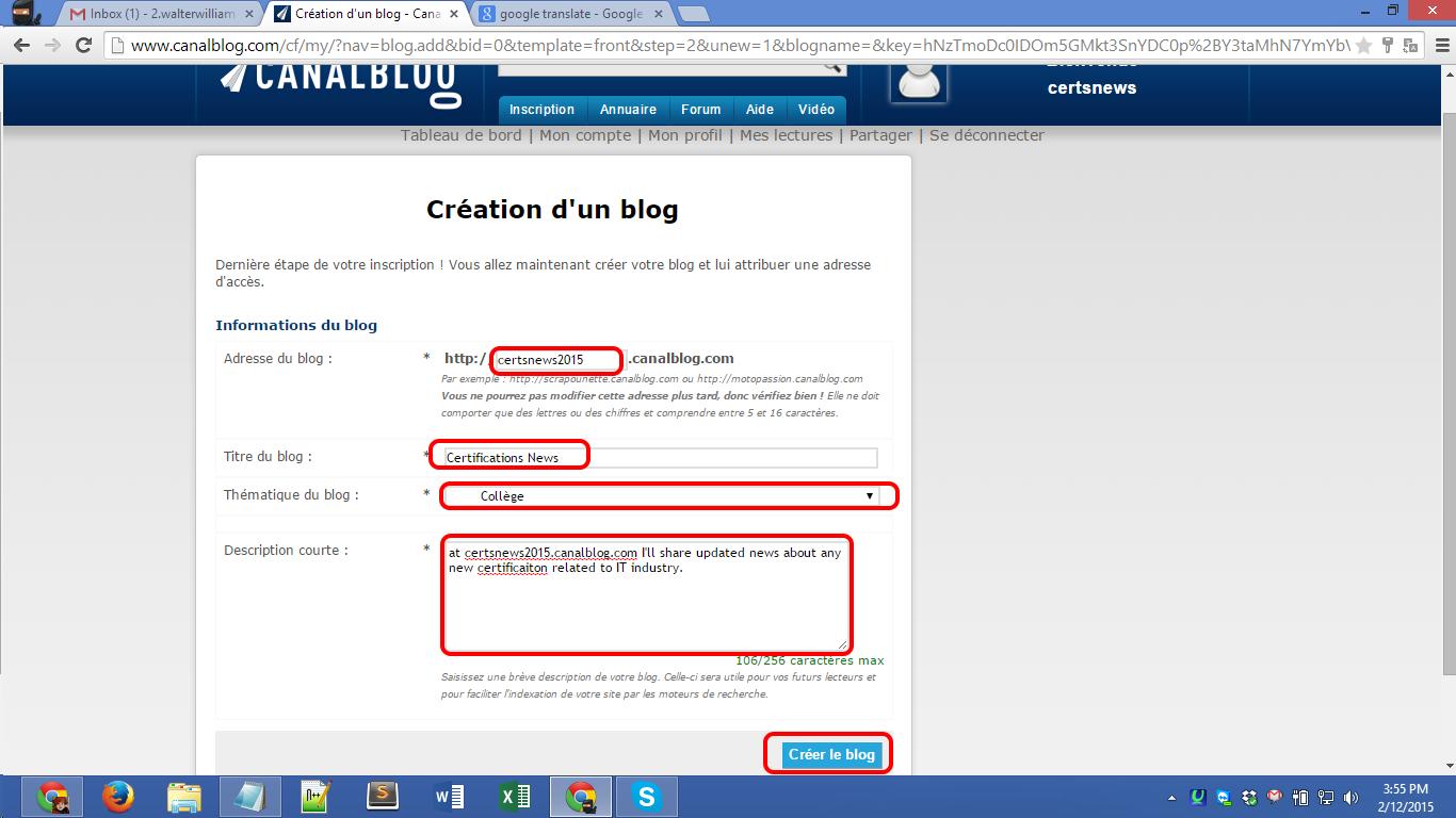 Canalblog.com Registration Screen 03