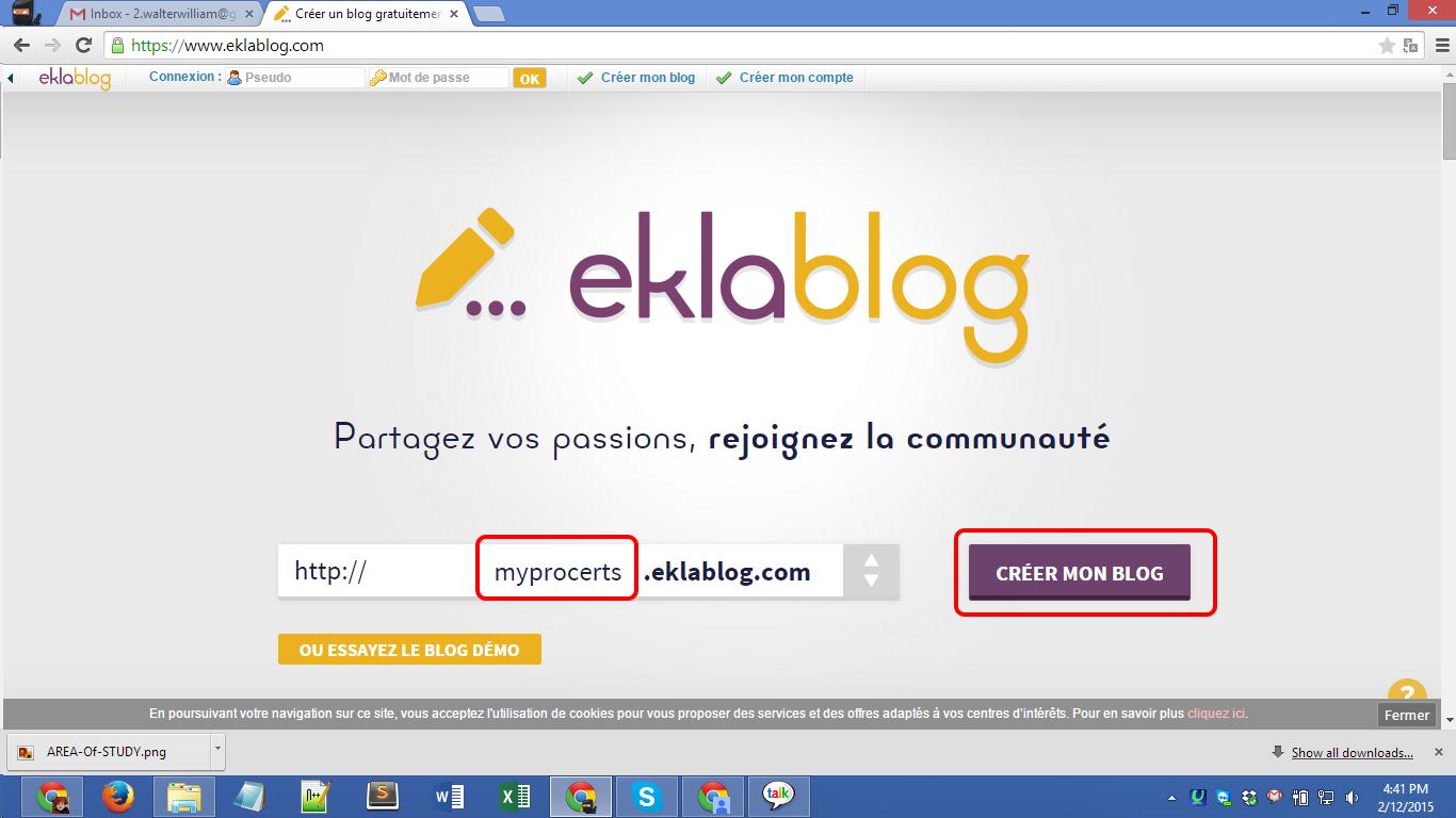 Eklablog.com blog registration Screenshot 01