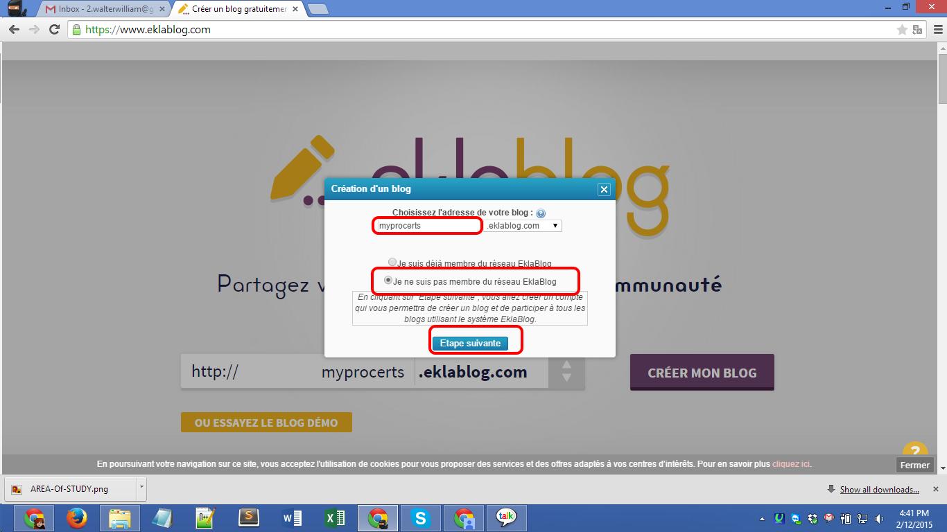Eklablog.com blog registration Screenshot 02
