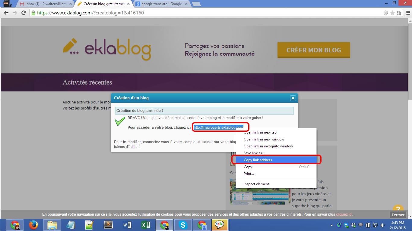 Eklablog.com blog registration Screenshot 05