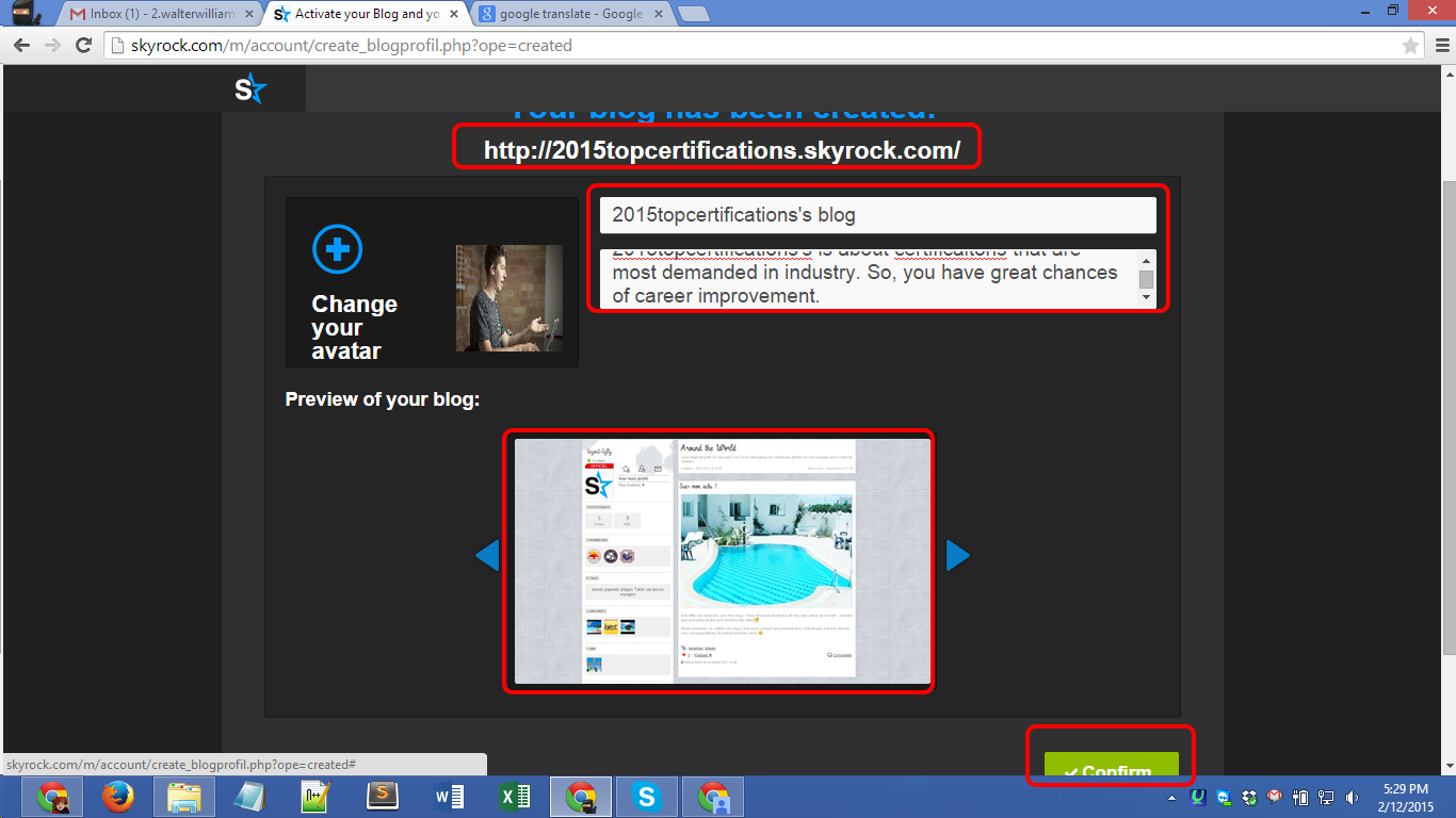 Skyrock.com registration Screenshot 05