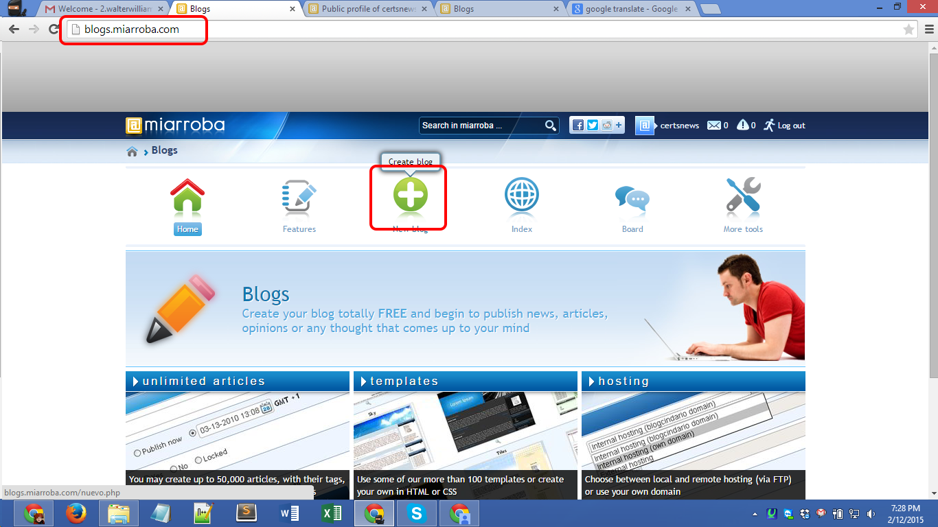 miarroba.com bloging Screenshot 10